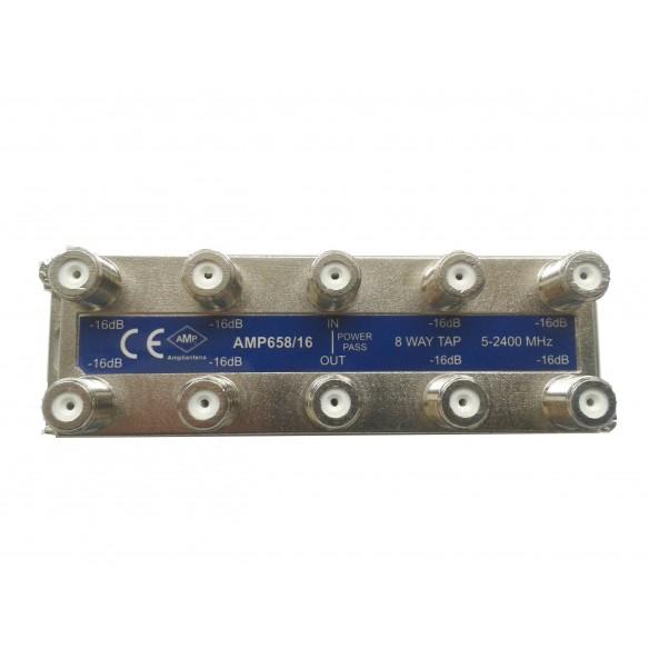 """Derivadores blindados 5-2500 MHz conexión frontal """"F"""""""