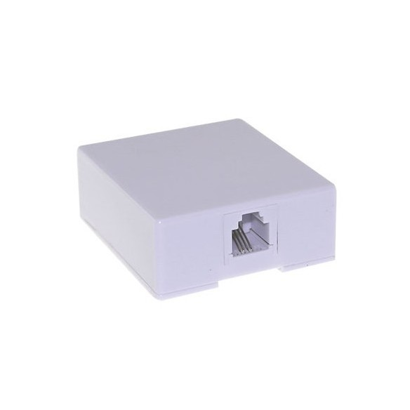Telephone wall socket, voice terminal box and front covers